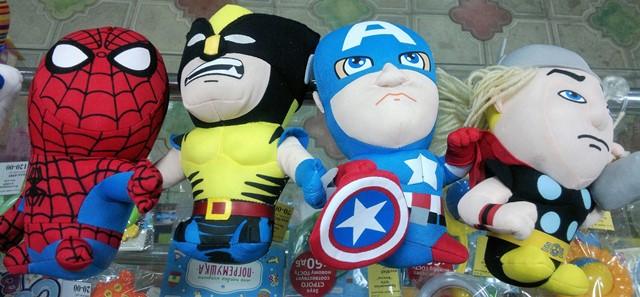 Супергерои Марвел: Человек-паук, Росомаха, Капитан Америка, Тор